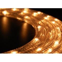 Meleg fehér LED fénykábel 16m-es szett