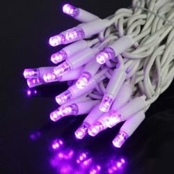 Kültéri LED fényfüzér 20m fehér kábel, 120 pink LED