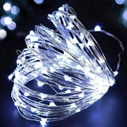 Elemes kültéri microLED fényfüzér 10m 100 fehér LED