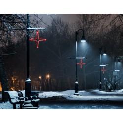 Nagy csillag 4 ágú 110cm piros LED