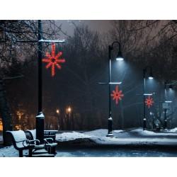 Esthajnal csillag 31x45cm piros LED