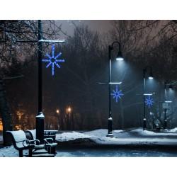 Esthajnal csillag 31x45cm kék LED