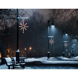 Esthajnal csillag 31x45cm színes LED