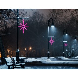 Esthajnal csillag 31x45cm rózsaszín LED