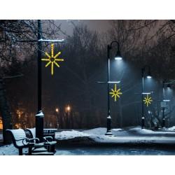 Esthajnal csillag 31x45cm sárga LED