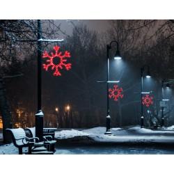 Nagy hópihe motívum 100cm piros LED