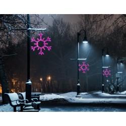 Nagy hópihe motívum 100cm rózsaszín LED