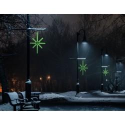 Esthajnal csillag 31x45cm zöld LED