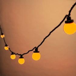 """LED Party fényfüzér szett 5m zöld kábel 10 sárga """"Golflabda"""""""