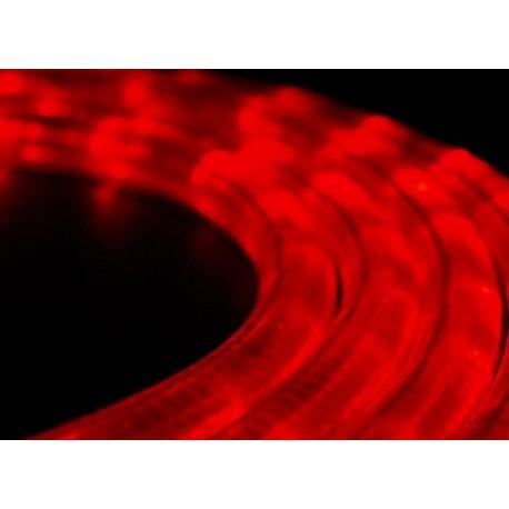 Piros LED fénykábel méterben