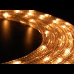 Meleg fehér LED fénykábel méterben