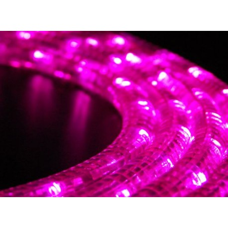 Pink LED fénykábel méterben