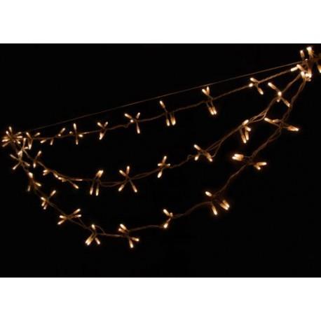 Kültéri Swing Light 1,4m fehér kábel, 144 fehér izzó