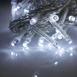 Beltéri fényfüzér 3m 40 fehér LED átlátszó kábel, 24V